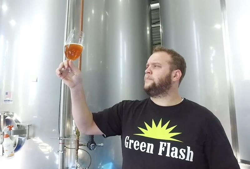 Green Flash Brewer Testing Beer