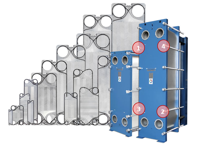 Plate Heat Exchanger Disassembled
