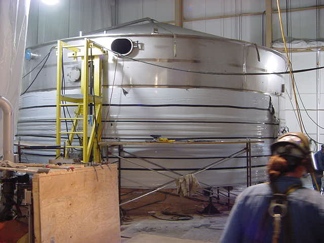 Preparing the new fermenter shell