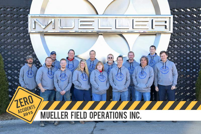 Mueller Field Operations accident free in 2015