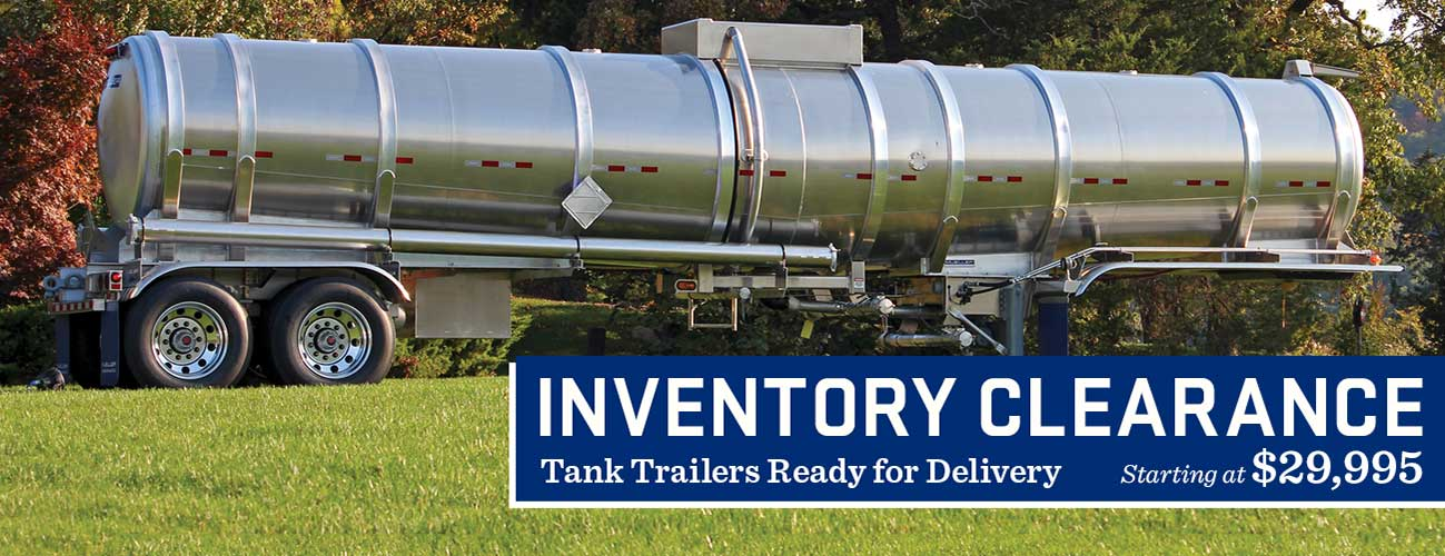 Tank Trailer Clearance Sale
