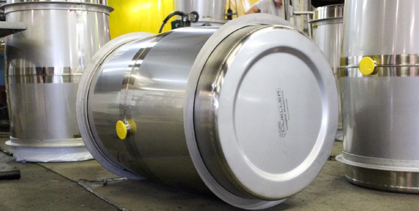 Stainless Steel Wine Barrels in shop