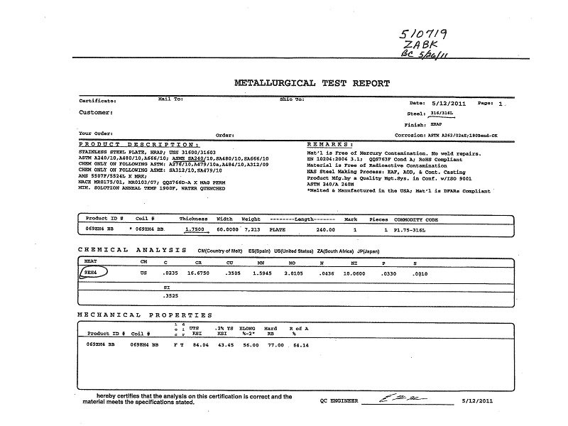 What is a Mill Test Report?